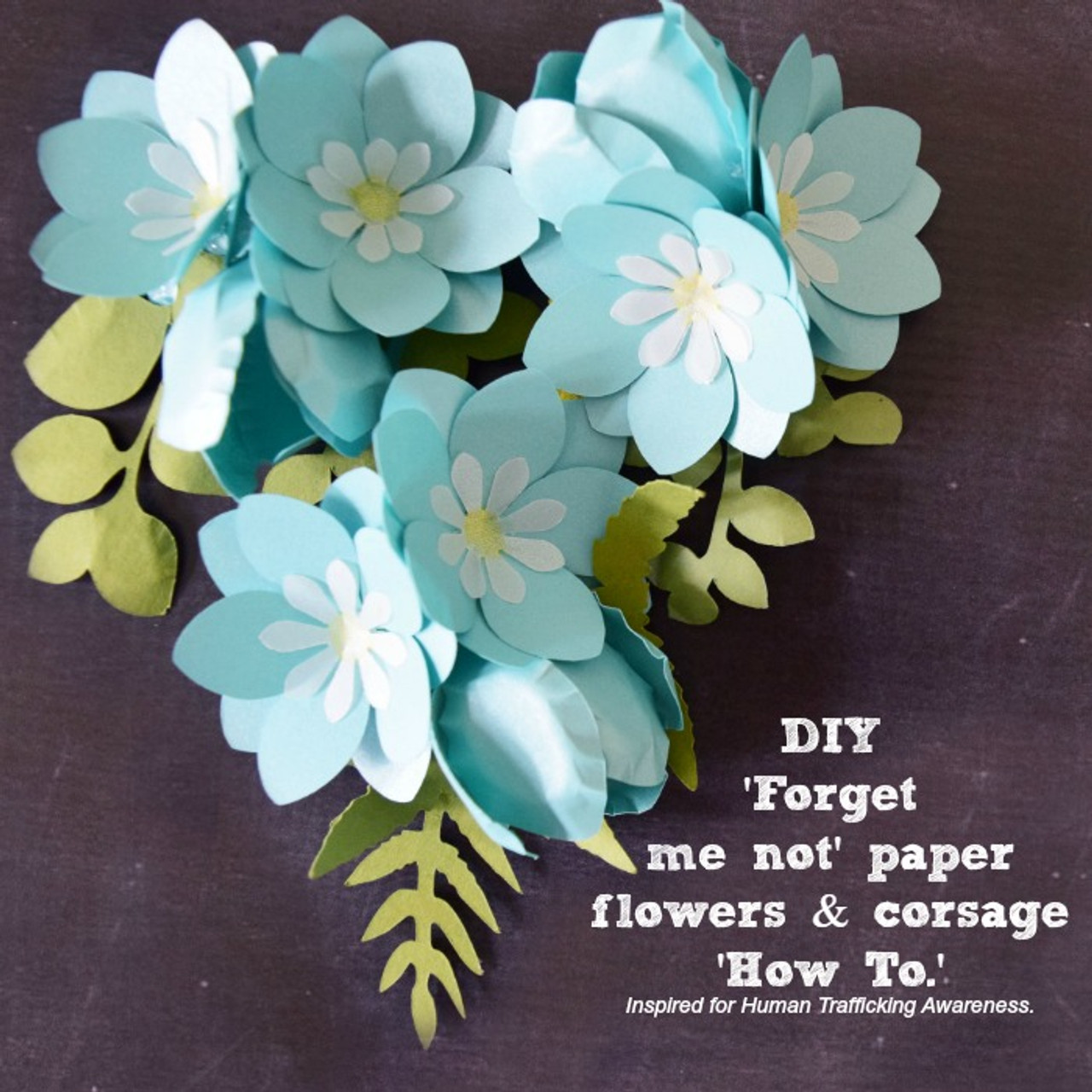 Forget Me Not Paper Flower Templates Catching Colorflies