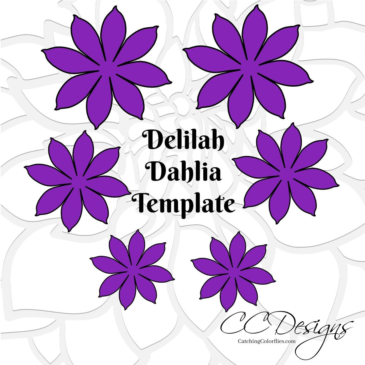 Delilah Dahlia Style Paper Flower Template
