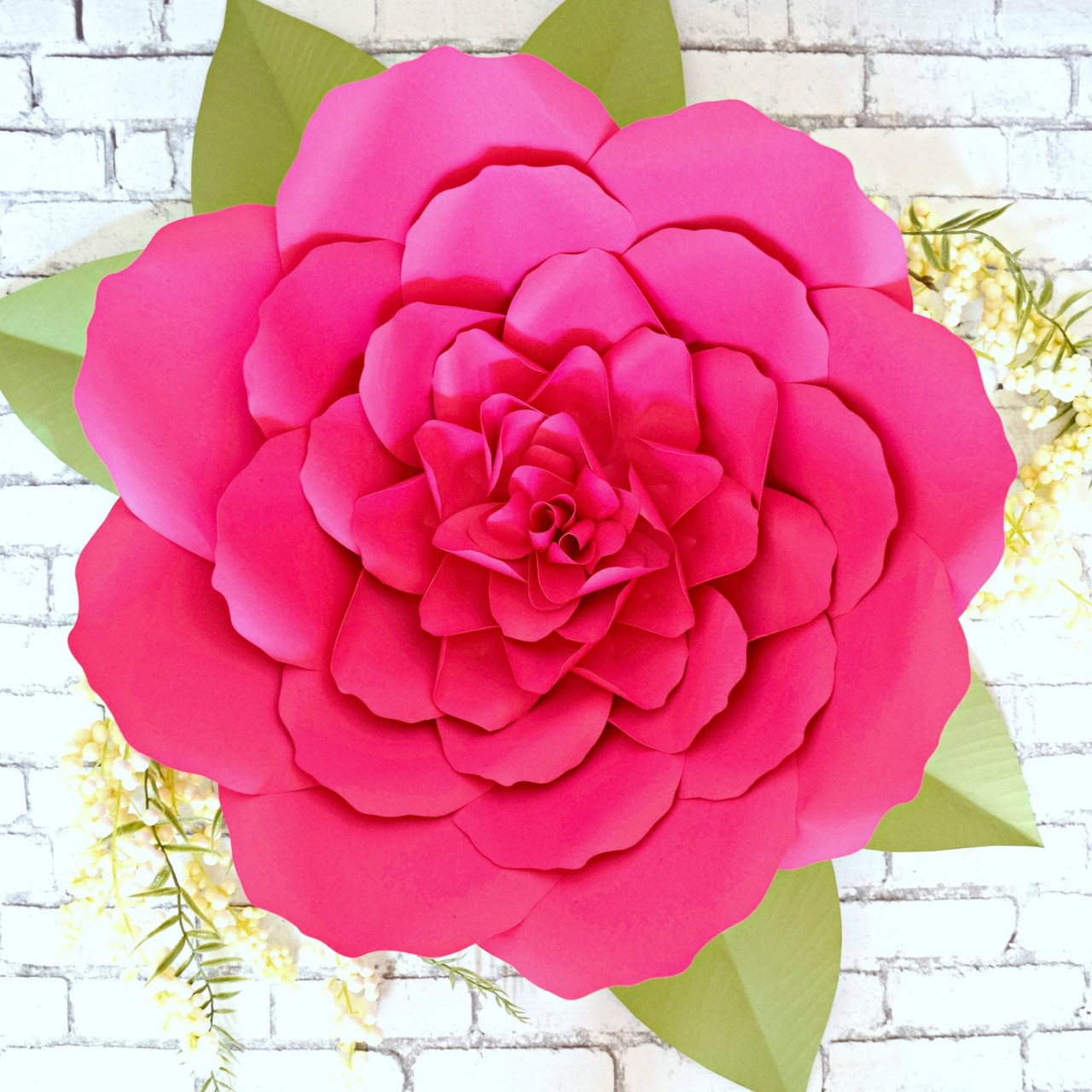 giant paper flower peony templates