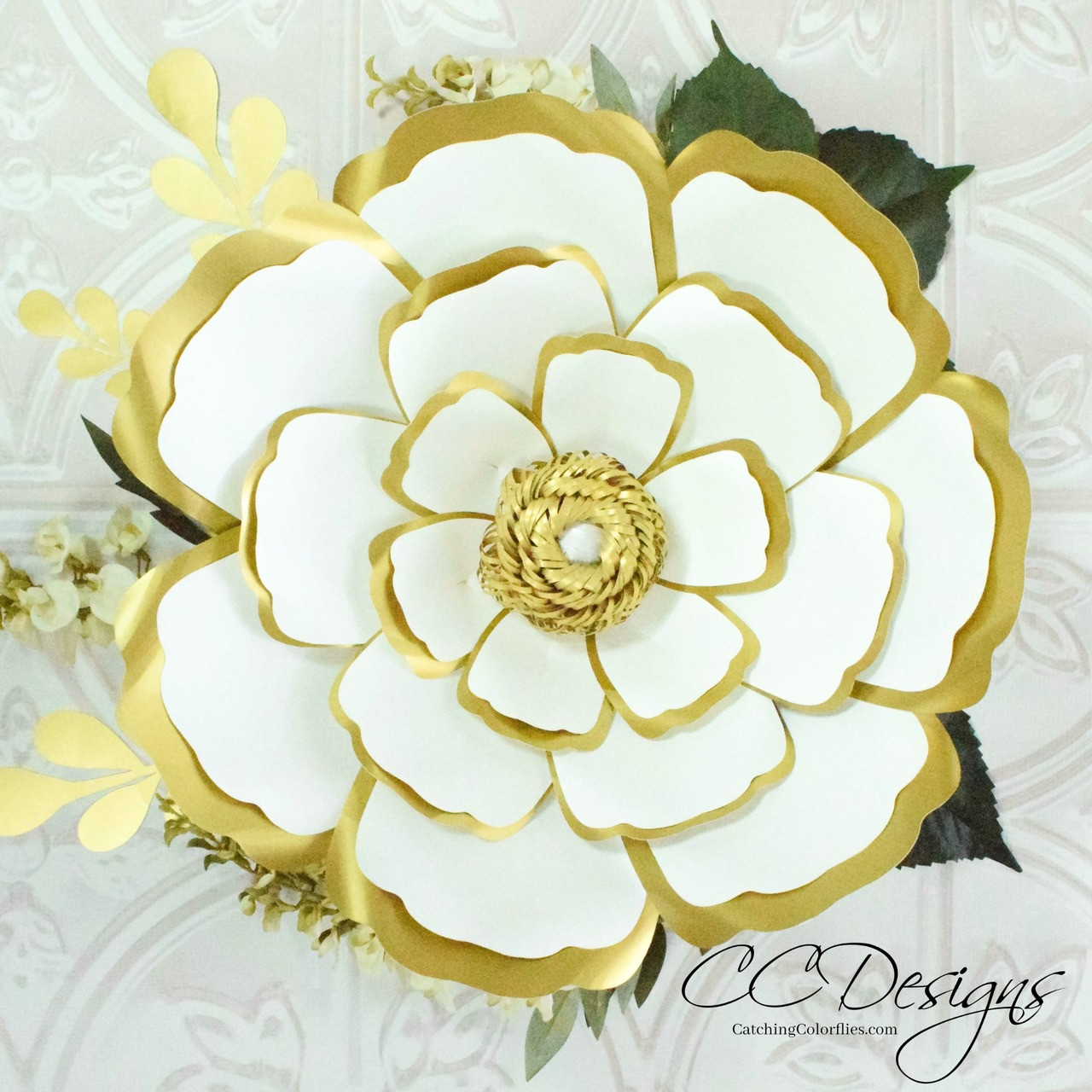 Cora Style Giant Paper Flower Template Diy Flowers