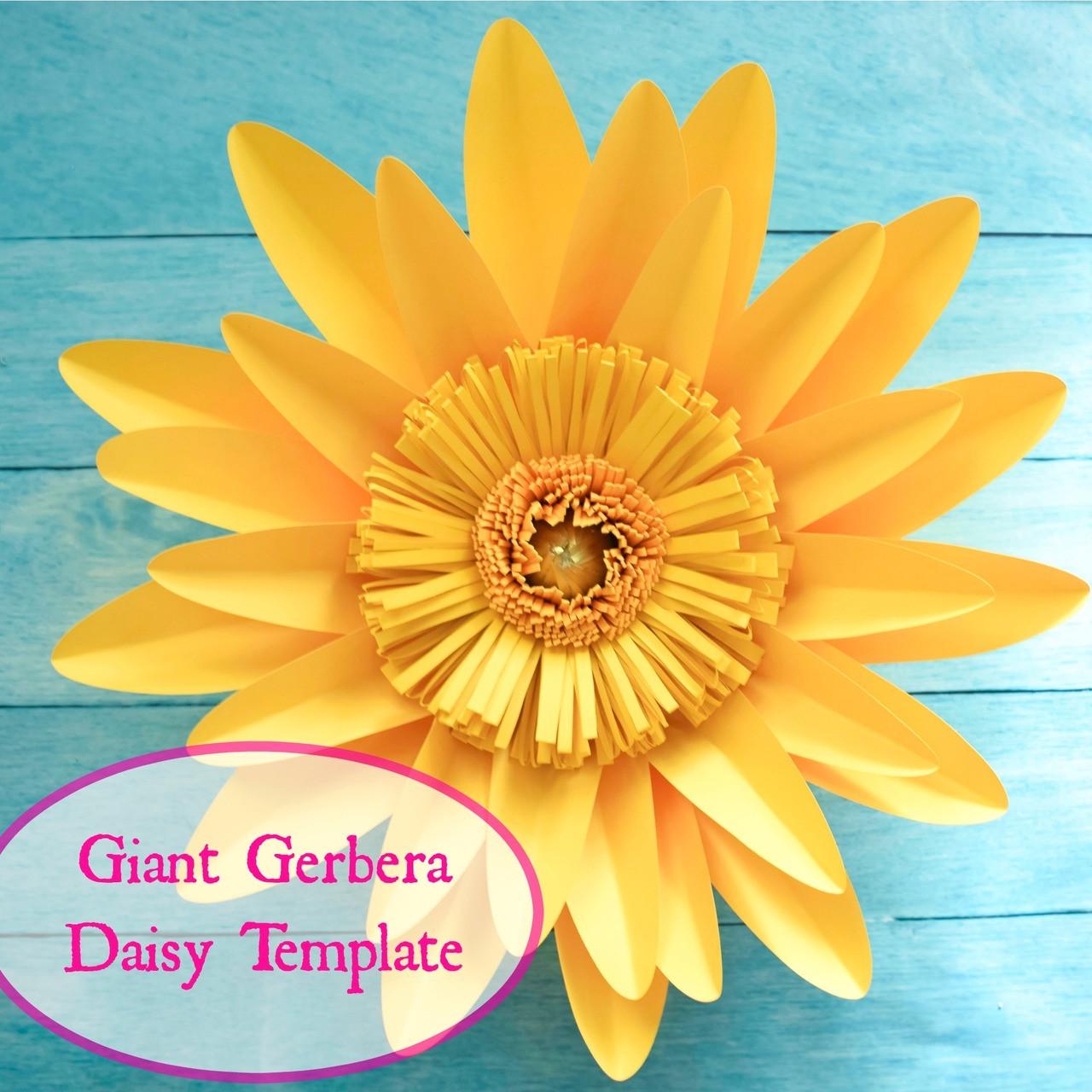 Giant Gerbera Daisy Paper Flower Template Catching Colorflies