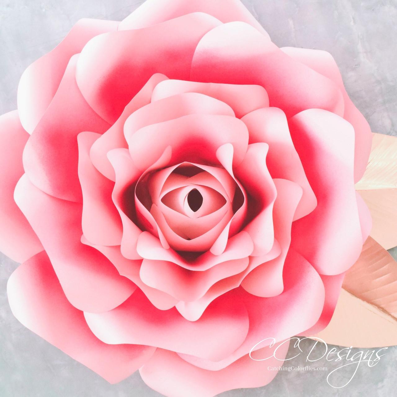 Alora Garden Giant Paper Rose Template Tutorial