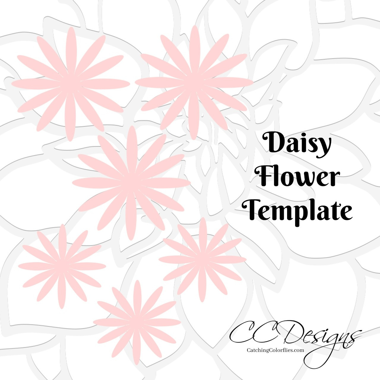 It's just an image of Transformative Daisy Template Printable