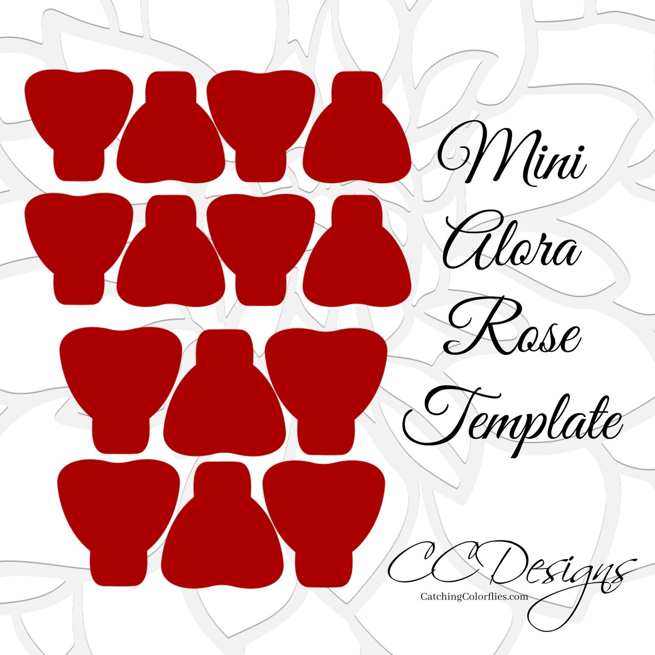 mini alora rose small paper flower rose template catching colorflies