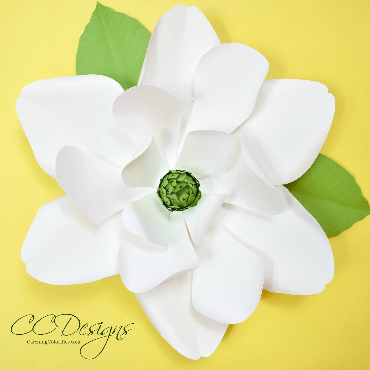 Giant Paper Magnolia Templates Catching Colorflies