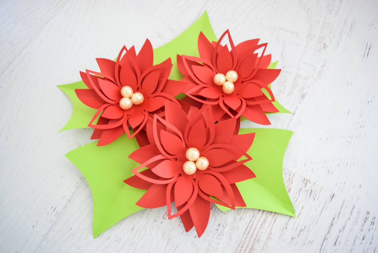 Video Tutorial: How to Decorate with Paper Poinsettias - Lia Griffith | 856x1280