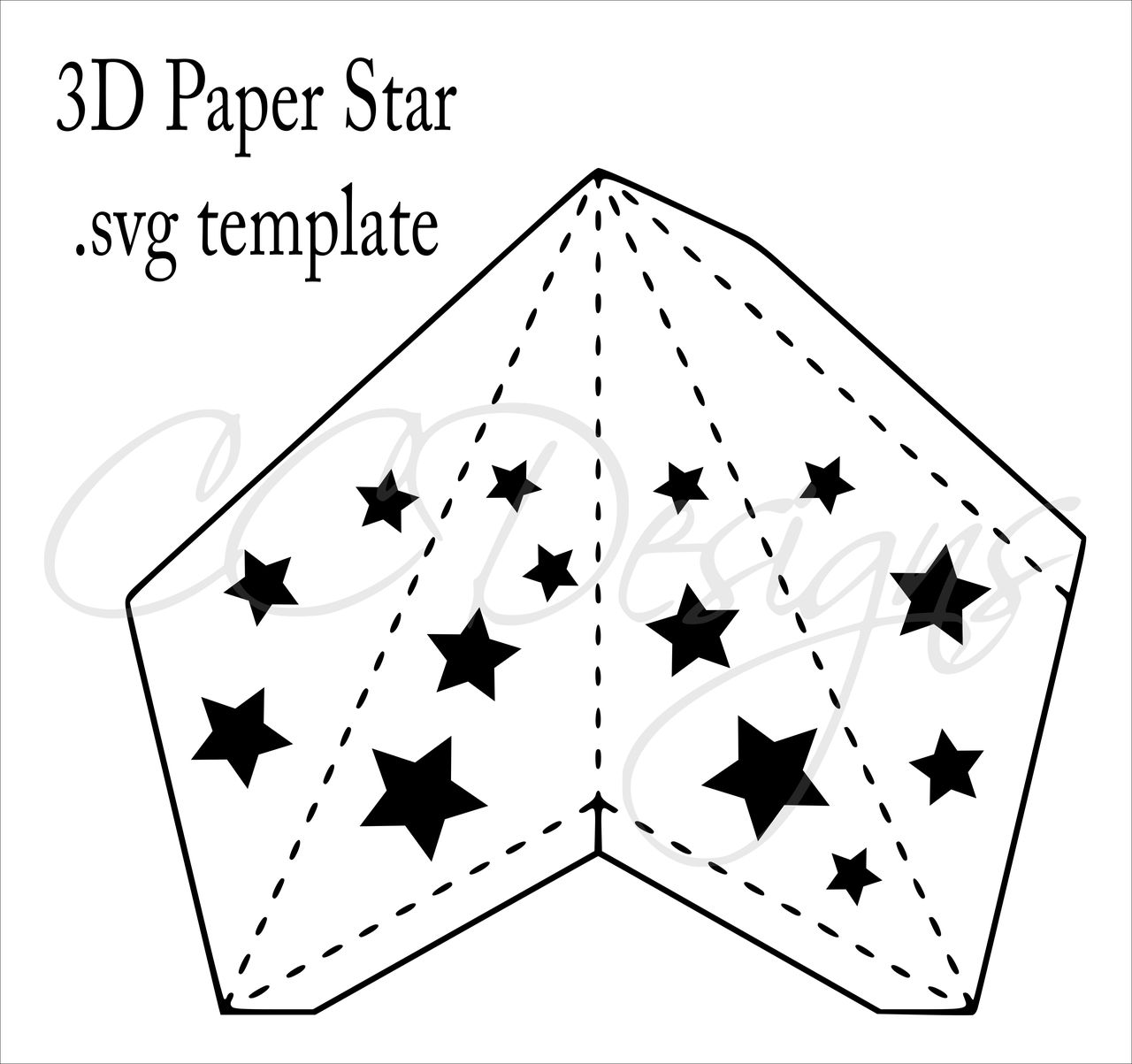 It's just an image of Star Stencil Printable inside cut out