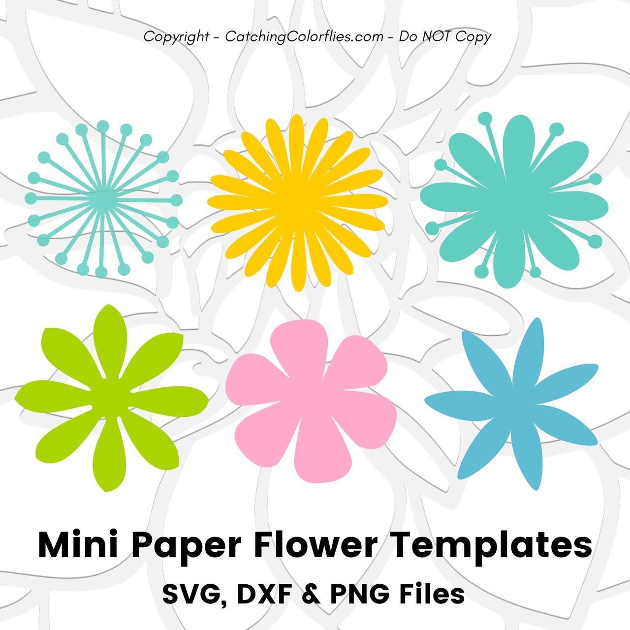 Mini Paper Flowers Set Of 6