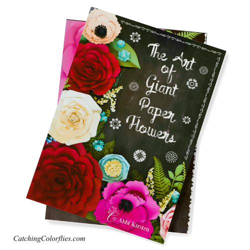The Art Of Giant Paper Flowers Hardback Art Book With Flower Template Workbook