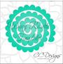 Charlotte Style Flower Templates XL