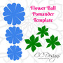 Flower ball template