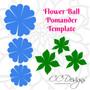 Flower ball template