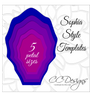 Sophia Style Giant Flower Templates