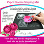 Rolled Rosette Flower Templates