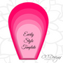 Set of 2 Paper Flower Templates- Everly & Priscilla Style