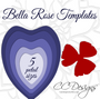 Giant Flower Template Set of 2- Arielle & Bella Style