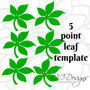 Set of 5 Small Flower Templates - Paper Flower Bouquet How To