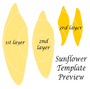 Sunflower templates
