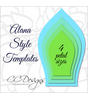 Alana Style Giant Flower Templates