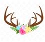 Floral Antler SVG