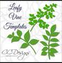 Leafy Vine Set, Leaf SVG Template