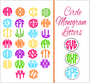 SVG - Circle Monogram Alphabet Letters