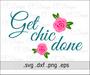 Get Chic Done Rose Flower SVG Cut File Design