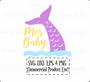 Mer-Baby, Mermaid Tail SVG Cutting Files