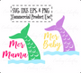 Mer Mama, Mer Baby, Mermaid Tail SVG Cut Files