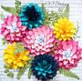 Giant Paper Dahlia Flowers-DIY Flower Wall