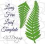 Giant Leafy Fern Vine- SVG Vine Cut Files