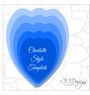 Charlotte Style Flower Template with wavy rosette center