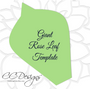 DIY Giant Rose Template Set with Vines