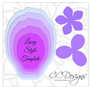 Lacey flower template (use for skirt)