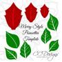 Merry Poinsettia Christmas Flower Template