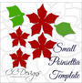 Small Poinsettia Paper Flower DIY Template