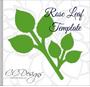 Serena Rose Flower Template