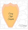 Set of 5 Large Giant Flower Templates