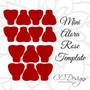 Mini Alora Rose - Small Paper Flower Rose Template