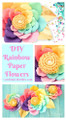 Rainbow Unicorn Paper Flower Templates
