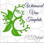 Whimsical Vine Leaf Template