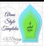 Set of 4 Large Flower Templates - Paper Flower Patterns- PDF and SVG