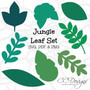 Jungle Safari Leaf Templates- Set of 8