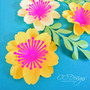 Mary Jane Small Paper Flower Template