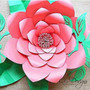 Giant Paper Flower Templates - Set of 4