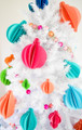 3D Paper Christmas Ornament Templates - Set of 9