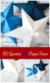 3D Paper Star Templates: DIY Paper Star Craft SVG & PDF Template