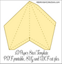 3D Paper Star Templates: DIY Paper Star Craft SVG & PDF Template