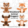 Woodland Animal Hugger Set