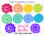 Set of 10 Rolled Rosette Paper Flower Templates